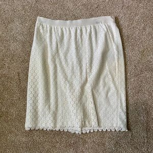 Beautiful lace lined short Ann Taylor skirt